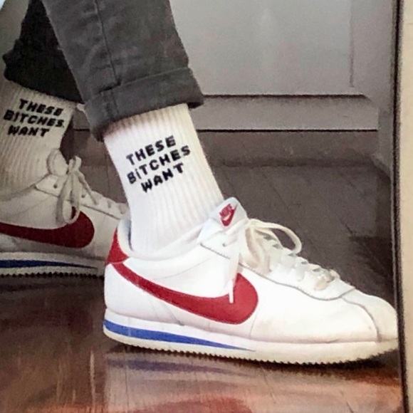 Vintage Nikes Red And Blue Vsco Hipster